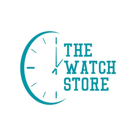 watch store logo on white background. vector illustration