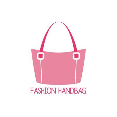Handtasche-Logo auf weißem Hintergrund. Vektor-Illustration