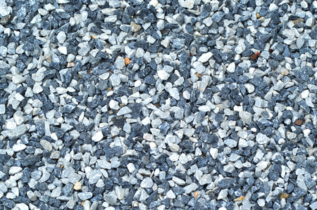 granite gravel of macadam  ground texture with scree background  small stones rock gray and blue on floor