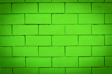 green brick wall texture background  old wall painted green