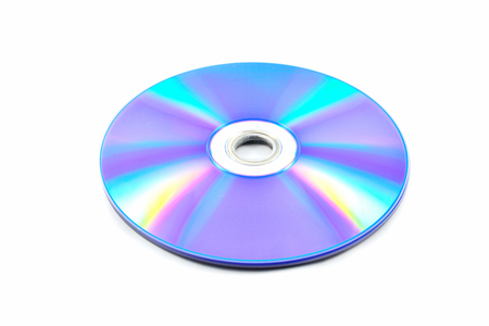 dvd disc / dvd or blue ray disc isolated on white background Фото со стока