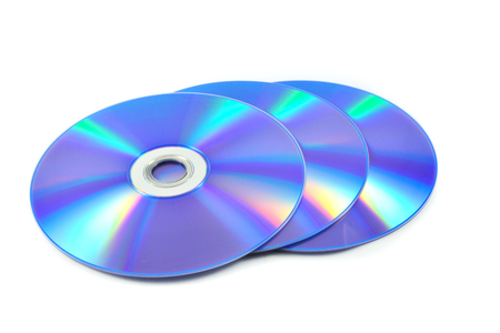 dvd disc / dvd or blue ray disc isolated on white background Stock Photo - 115051511