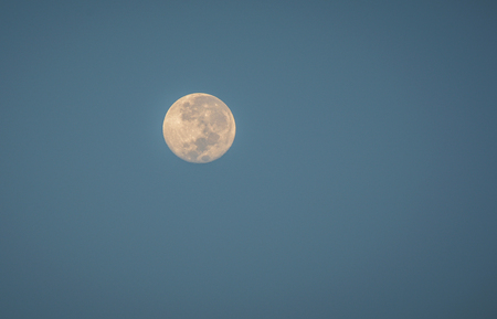 Real moon on sky / Night sky background with full moon selective focus