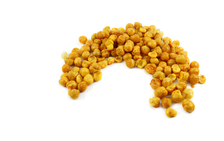bean salt isolated / Roasted Crispy Chickpeas yellow - Snack bean baked cook with salt seasoning - Giant corn isolated on white background Stok Fotoğraf