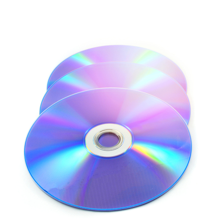 dvd disc or blue ray isolated on white background Stock Photo