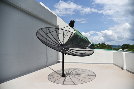 Dish tv / Satellite dish on the roof building