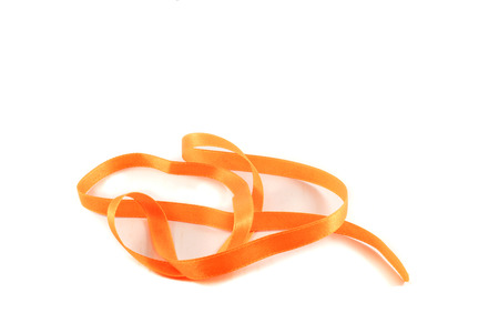 rope orange for ribbon bow isolated on white background