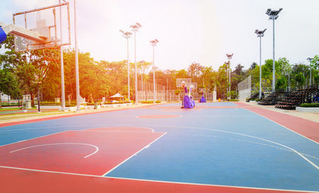 basketball court sport outdoor public park  Streetball Stock Photo