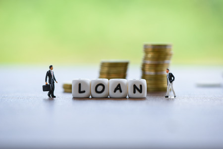 Businessman financial loan negotiation for lender and borrower on business document mortgage loan approval  Meeting financial advisor for help investment bank estate concept - selective focus