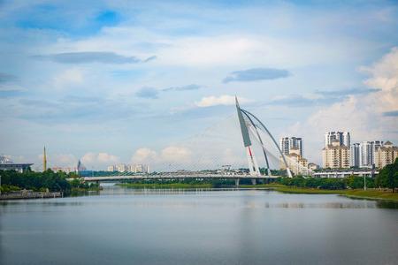 View of the Seri Wawasan Bridge at Putrajaya Kuala Lumpur Malaysia