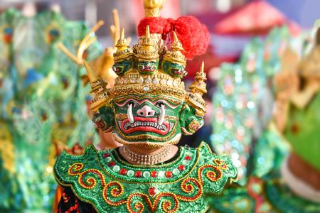 Giant mask  giant thai monster of dance performance based on drama