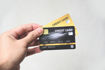 credit card shopping concept  hand holding credit card payment