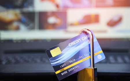 credit card security internet data  encryption transactions on credit card lock secured