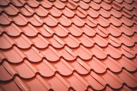 orange roof tiles texture background  home building construction roof tiles 写真素材