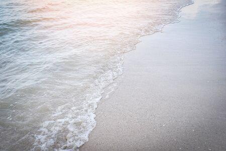 wave beach background ocean sea and sandy beautiful Banco de Imagens