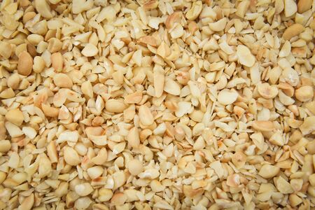 Macadamia nuts texture Background  with dried  Fresh macadamia nut shelled from natural high protein for to drying