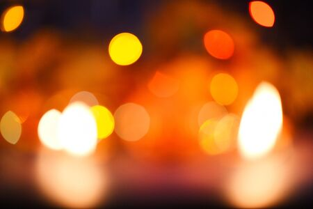 christmas lights orange yellow and red  lights bokeh abstract background multicolored christmas decorate new year concept 스톡 콘텐츠