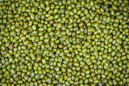 Top view of green beans agricultural products Mung beans texture background