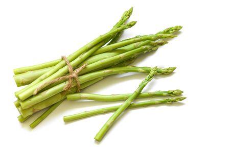 Asparagus isolated on white background / Fresh green asparagus