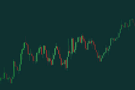 Business candle stick graph chart of stock market investment trading on background design / Trend of stock graph market exchange financial economy concept