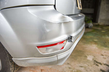 Car accident concept / Taillight accident car