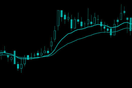 Forex graph business or Stock graph chart market exchange ,Technical price candlestick with indicator on chart computer screen background, Stock trading graphic design for financial investment trade Zdjęcie Seryjne