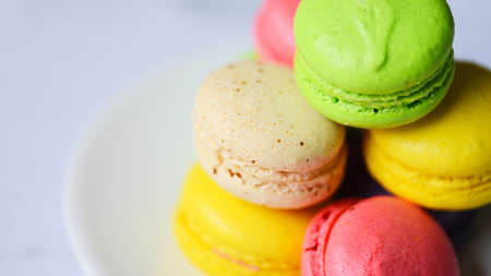 Colorful macarons tasty sweet dessert cookie, Macarons dessert small french cakes