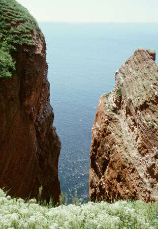 Red cliffs on the island of Helgoland photo