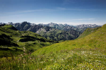 coutryside: Allgau Alps, Oberstdorf, Bavaria, Germany Stock Photo