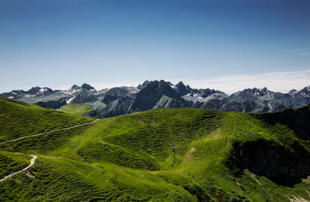 coutryside: Allgäu Alps, Oberstdorf, Bavaria, Germany Stock Photo