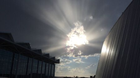 Sun ray clouds Zdjęcie Seryjne