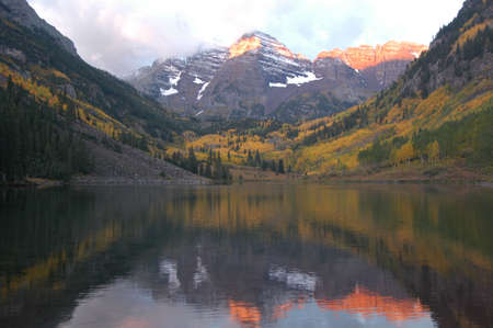 Mountain lake reflection photo