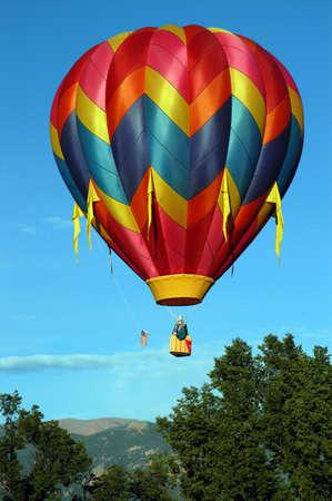 cloud drift:  hot air balloon Stock Photo