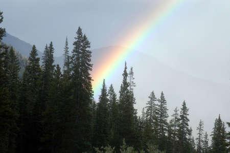 rockies:  rainbow over the rockies Stock Photo