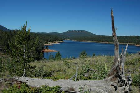 Fishing lake in the mountain
