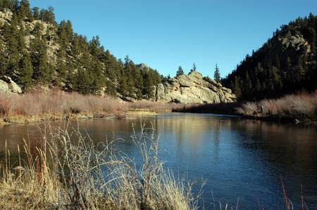 mountain stream Banco de Imagens
