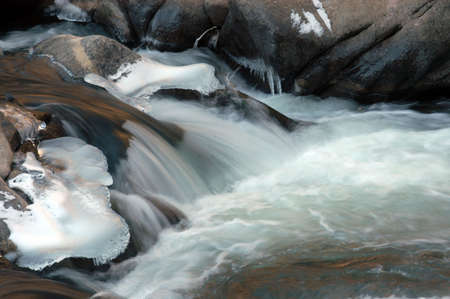 smooth: smooth flowing stream Stock Photo