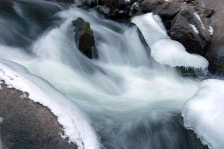 fast moving stream Banco de Imagens