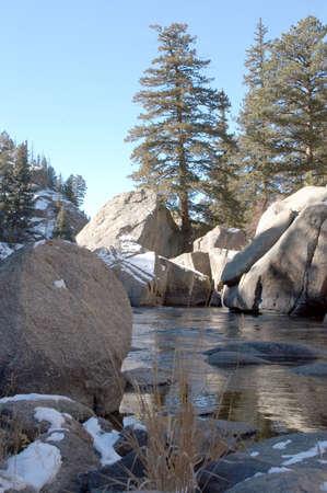 High mountain trout stream
