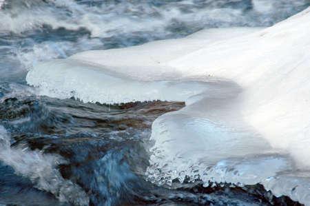 Ice over stream