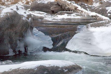 Nice and icy stream Banco de Imagens