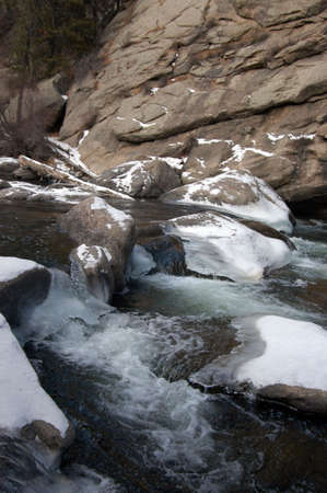 icy flowing stream