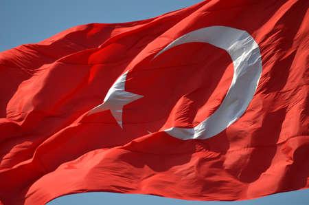 turk: turkish flag  Stock Photo