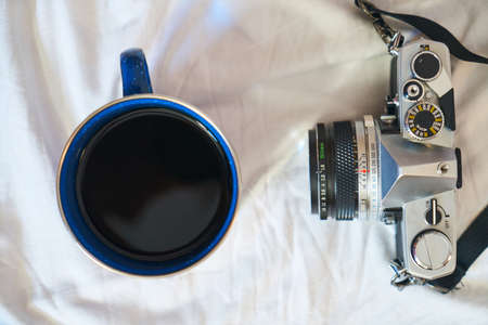Analog Camera and Coffee