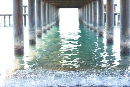 Old pier and beautiful seascape Zdjęcie Seryjne