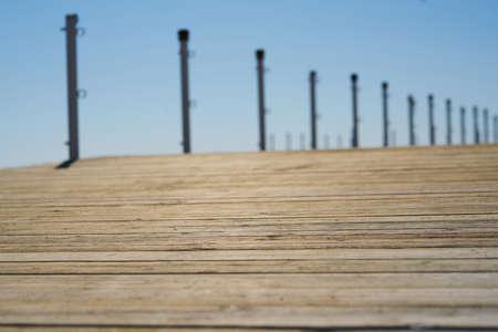Old wooden pier background Zdjęcie Seryjne