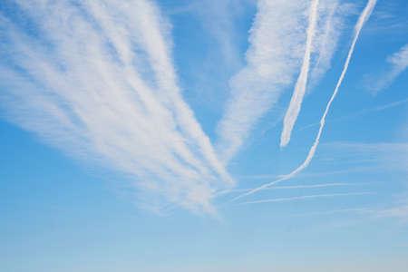 Blue sky background and texture Zdjęcie Seryjne