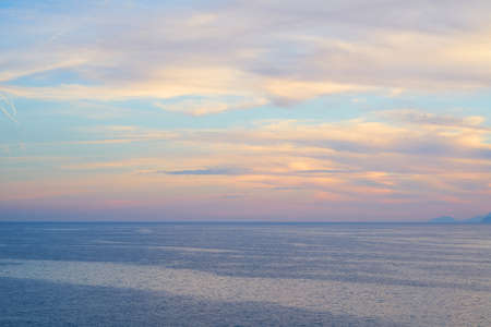 Romantic sky and seascape