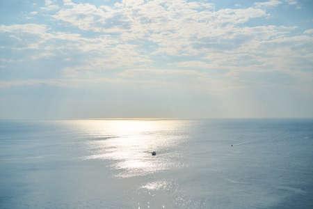 Seascape and boat background Zdjęcie Seryjne