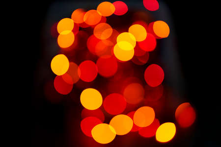 Night lights abstract background